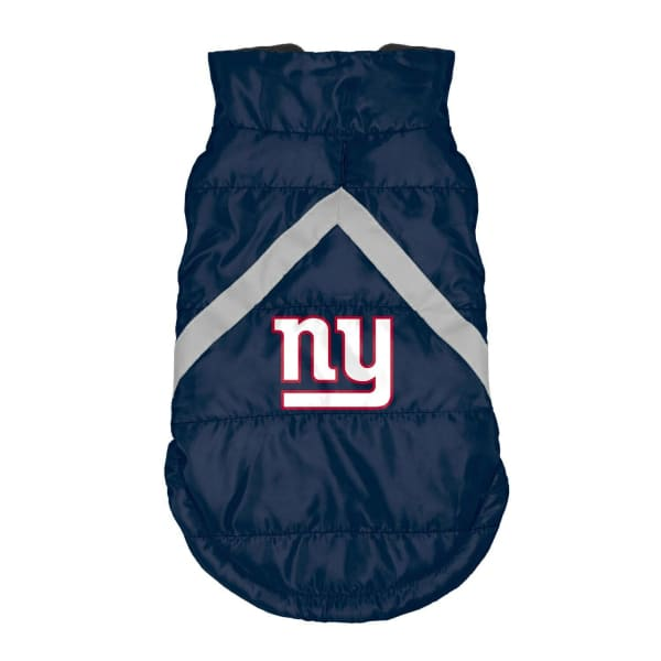 New York Giants Pet Puffer Vest for Dogs - NFL Pet Puffer Vest for Dogs - 1