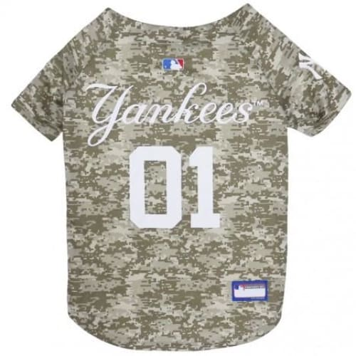 New York Yankees Dog Jersey CAMO - 1