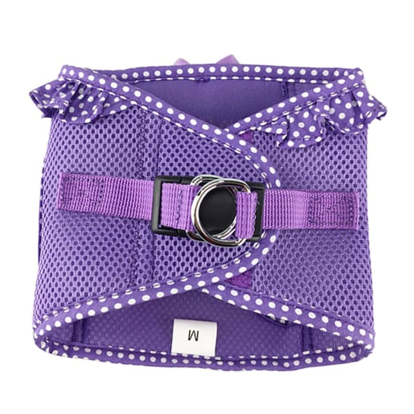 Paisley Purple Polka Dot Dog Harness - Soft Dog Harnesses - 3