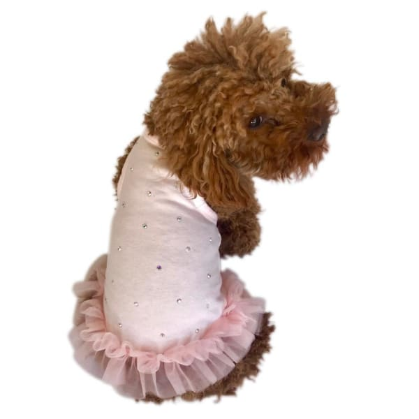 Pearly Girl Tutu Dress for Dogs Light Pink - Dog Dresses - 1