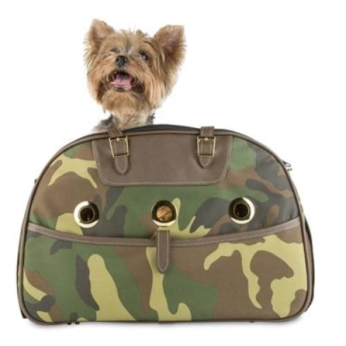Petote Ariel Bag for Dogs - Camouflage - Dog Purse Carriers - 1