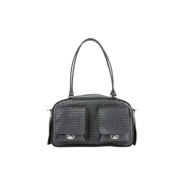 Petote Marlee Black Woven Dog Carrier - Purse Dog Carriers - 4