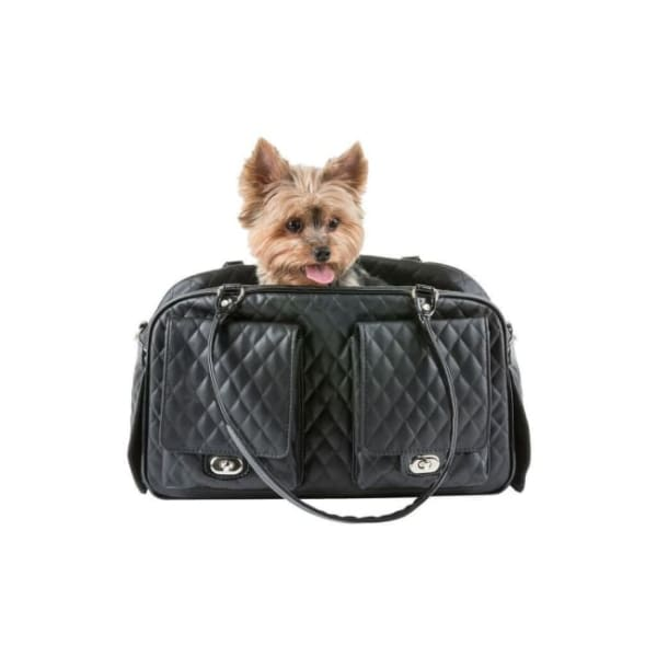 Petote Marlee Pet Carrier Black - Purse Dog Carriers - 9