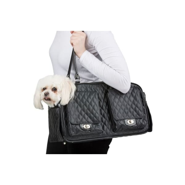 Petote Marlee Pet Carrier Black - Purse Dog Carriers - 8