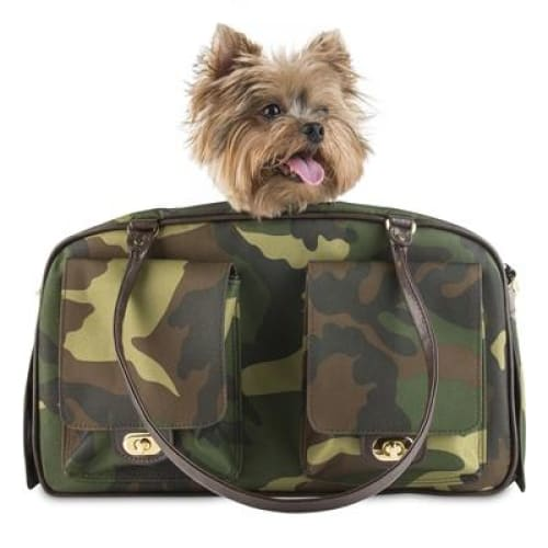 Petote Marlee Pet Carrier Camouflage - Dog Purse Carriers - 1