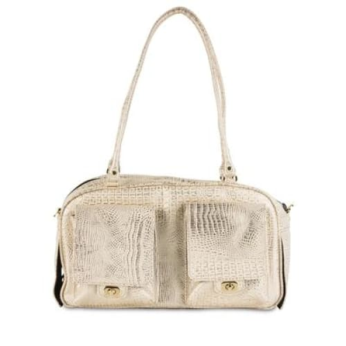 Petote Marlee Pet Carrier Gold Croc - Dog Purse Carriers - 2