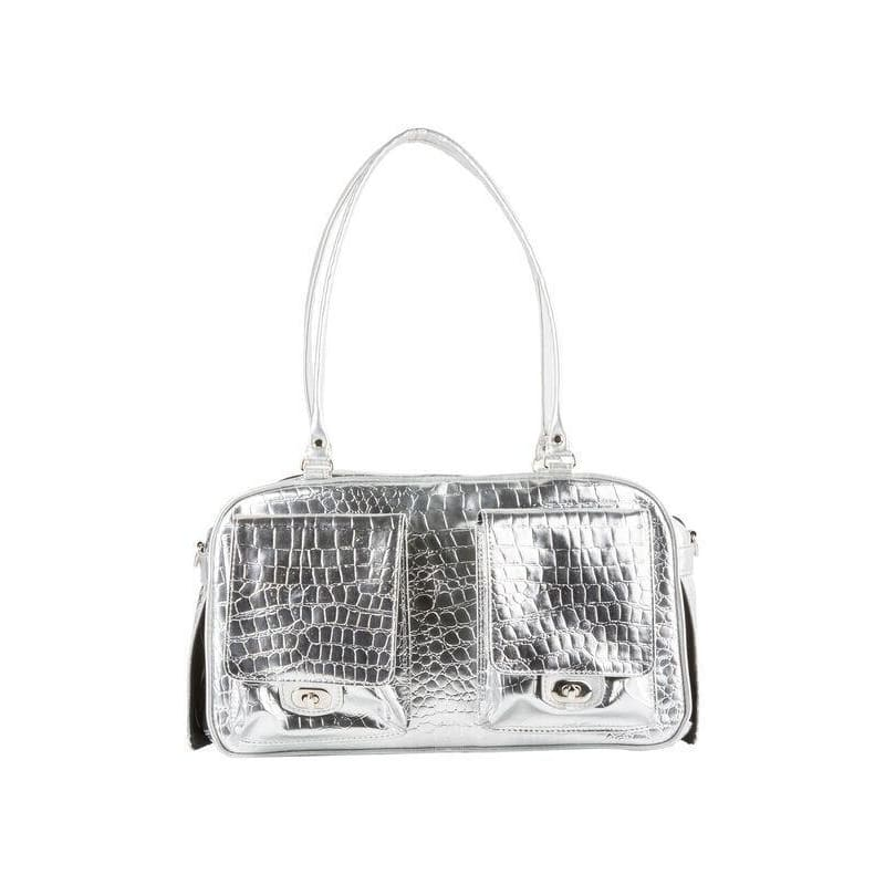 Petote Marlee Silver Gator Dog Carrier - 4