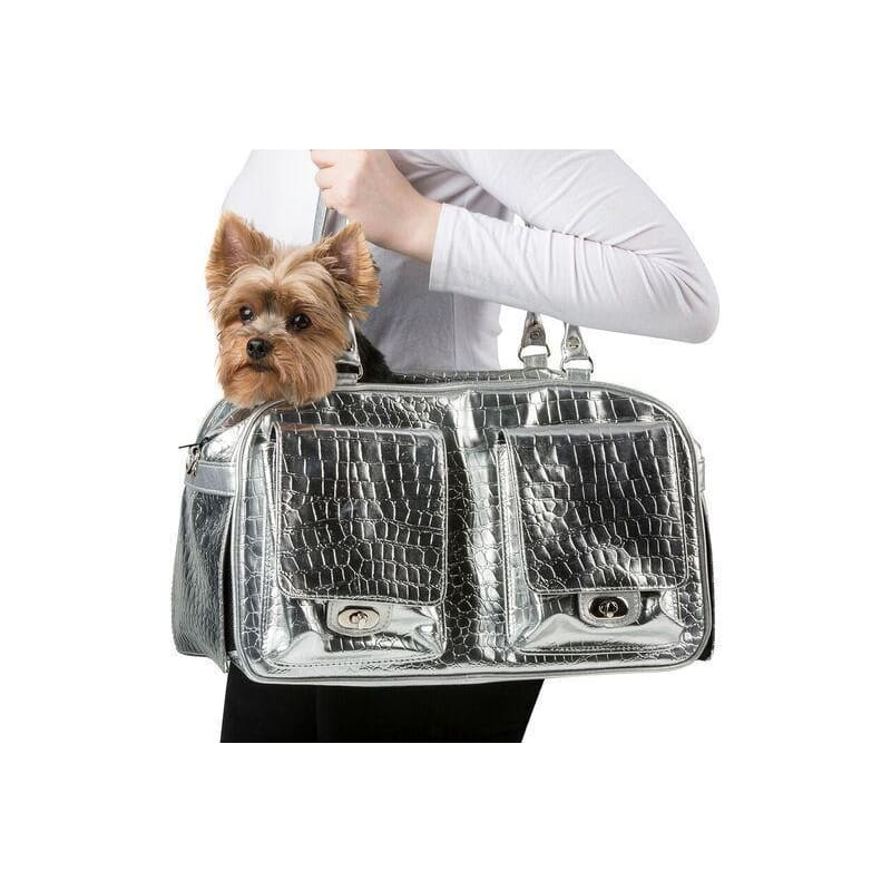 Petote Marlee Silver Gator Dog Carrier - 2