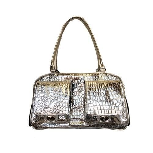 Petote Marlee Silver Gator Dog Carrier - 1