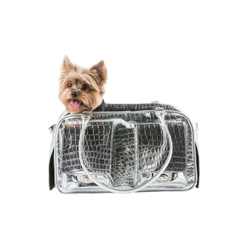 Petote Marlee Silver Gator Dog Carrier - 5