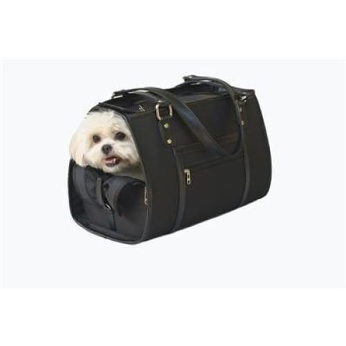 Petote Payton Dog Carrier Black - Purse Dog Carriers - 3