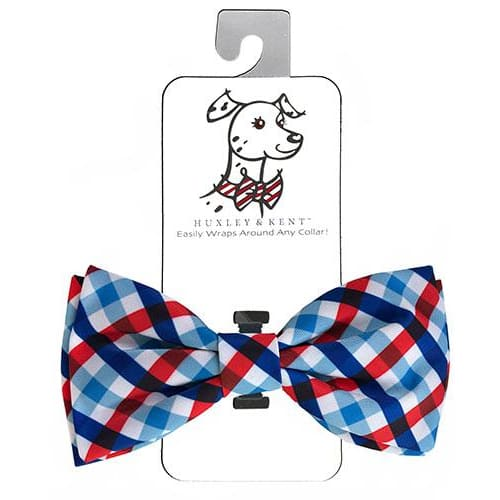 Picnic Check Bow Tie for Dogs - Dog Bow Ties - 1