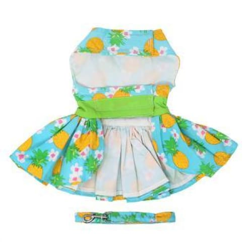 Pineapple Luau Dog Harness Dress with Matching Leash - Dog Dresses - 4