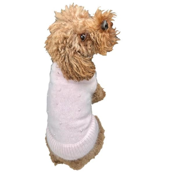 Pink Pearly Girl Sweater for Dogs - Luxury & Designer Dog Sweaters - 1