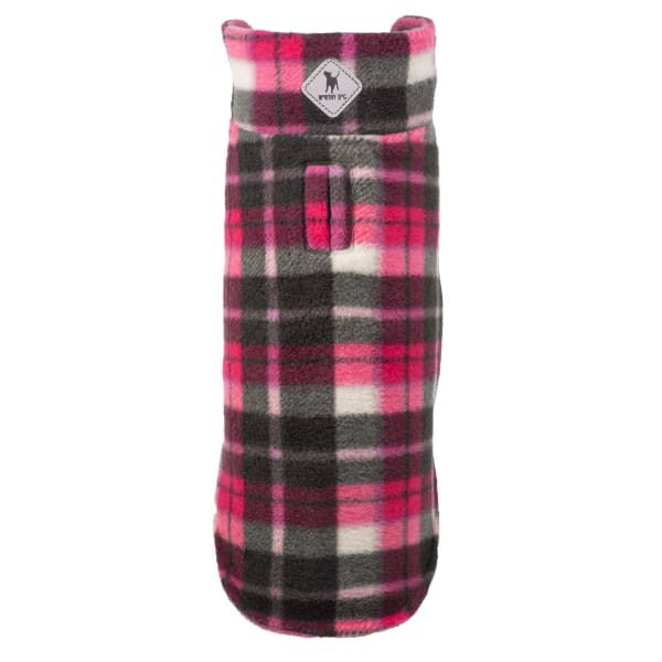 Pink Plaid Fargo Fleece Reversible Jacket for Dogs - Dog Jackets & Coats - 1