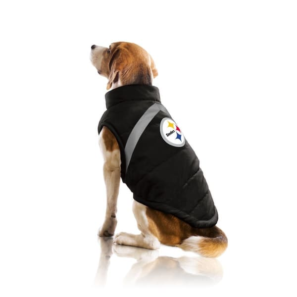 Pittsburgh Steelers Pet Puffer Vest for Dogs - NFL Pet Puffer Vest for Dogs - 2
