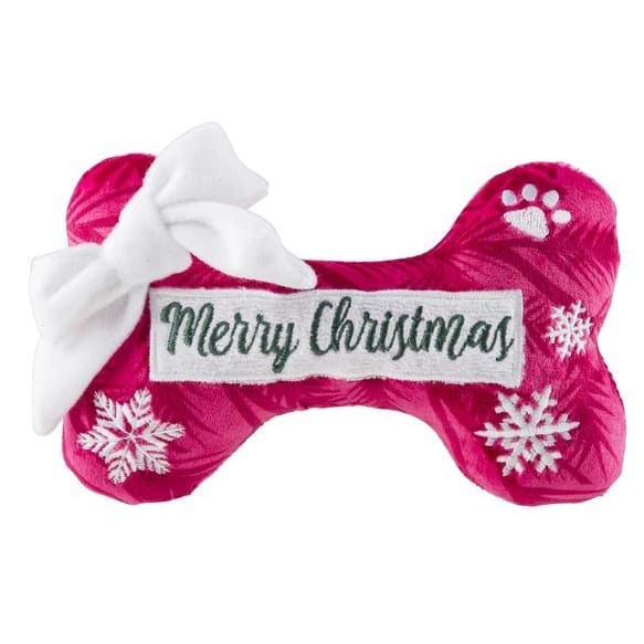 Puppermint Plush Dog Bone Toy - Merry Christmas - Plush Dog Toys - 1