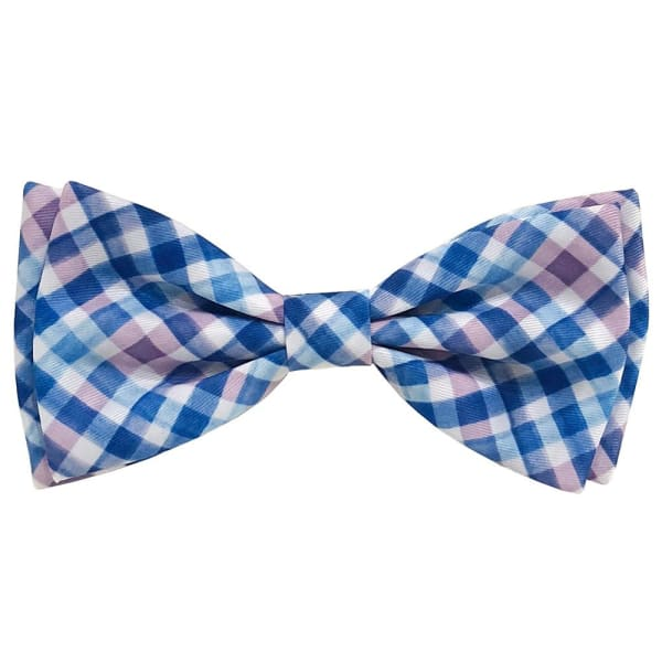 Purple Check Bow Tie for Dogs - Dog Bow Ties - 1