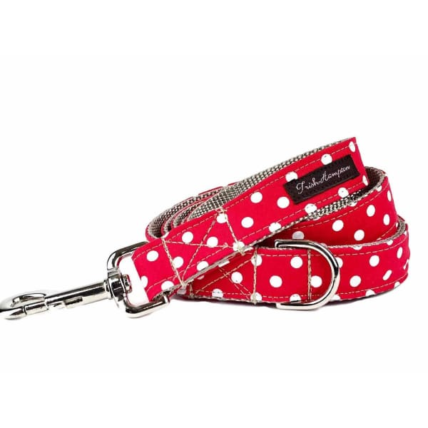 Red/White Candied Dots Dog Collar - Ribbon Dog Collars - 2