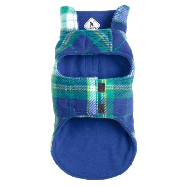 Royal and Green Fargo Fleece Reversible Jacket for Dogs - Dog Jackets & Coats - 3