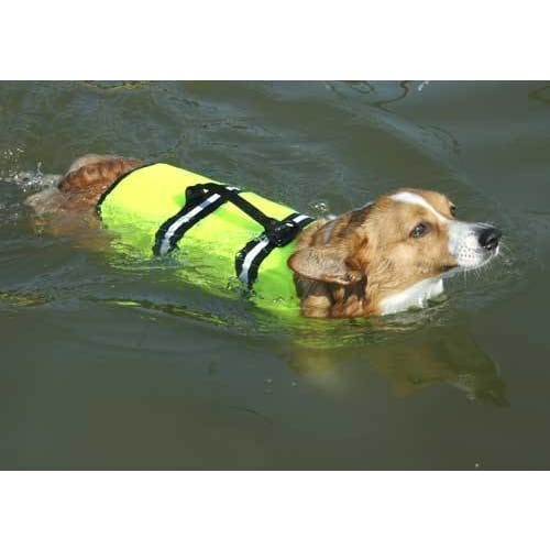 Safety Neon Yellow Dog Life Jacket - 2