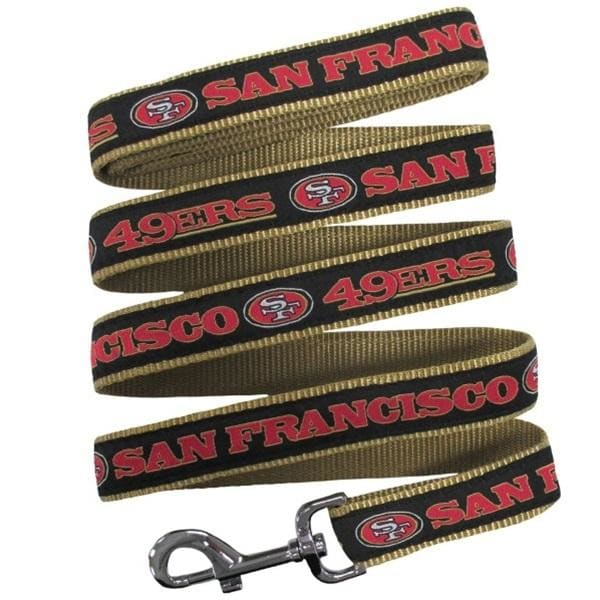 San Francisco 49ers Dog Leash Ribbon - NFL Dog Leashes - 1