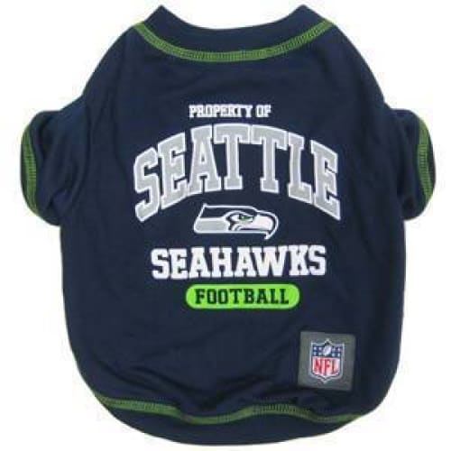 Seattle Seahawks Dog Tee Shirt Blue - 1
