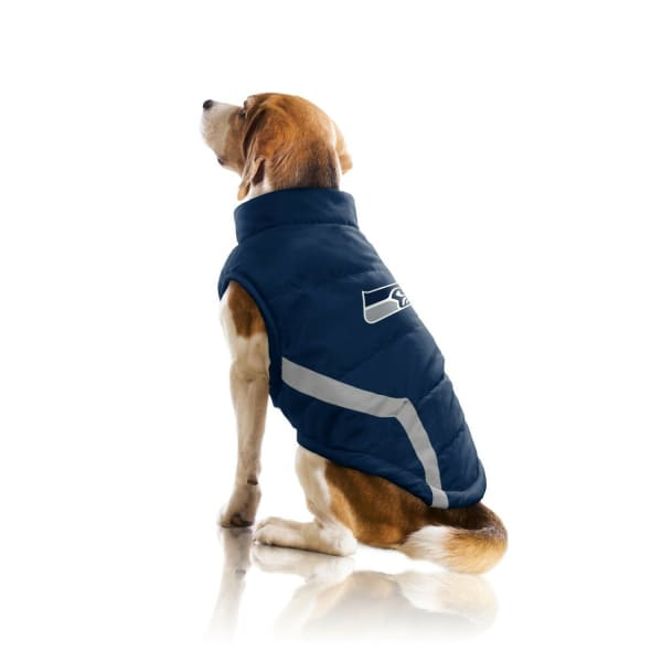 Seattle Seahawks Pet Puffer Vest for Dogs - NFL Pet Puffer Vest for Dogs - 3