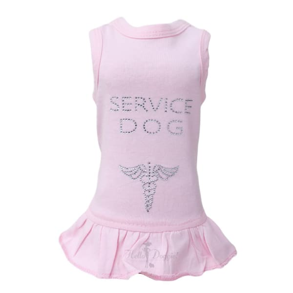 Service Dog Dress for Dogs Pink - 1
