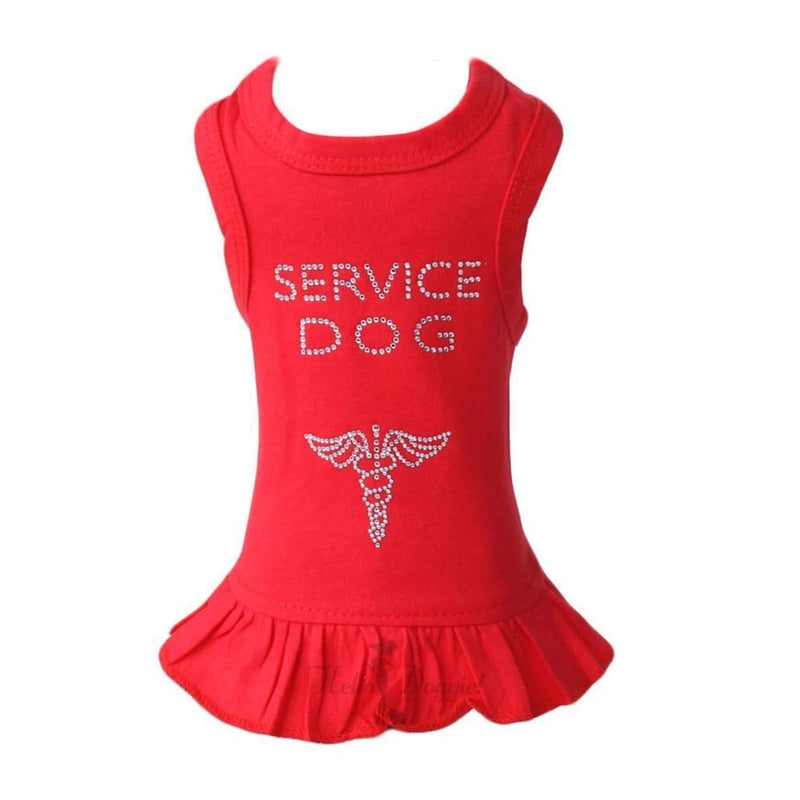 Service Dog Dress for Dogs Red - 1
