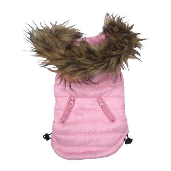 Ski Bunny Puffer for Dogs with Detachable Hood Pink - Dog Jackets & Coats - 2