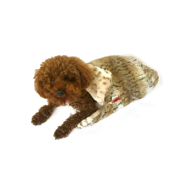 Sleeping Bag for Dogs Reversible Brown Ombré and Snow Leopard - Cozys & Snuggle Dog Beds - 1