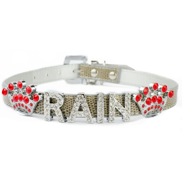 Gray Large Bling Collars