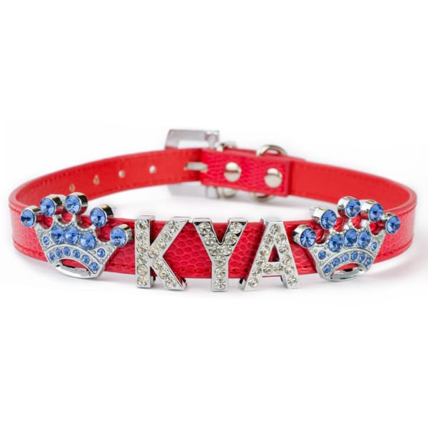Large Bling Collars for Big Dogs in Red