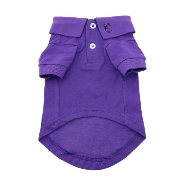 Solid Dog Polo - Ultra Violet - Dog Tee Shirts - 2