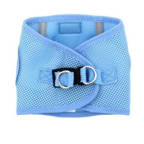 Solid Ultra Choke-Free Mesh Dog Harness Light Blue - Soft Dog Harnesses - 4