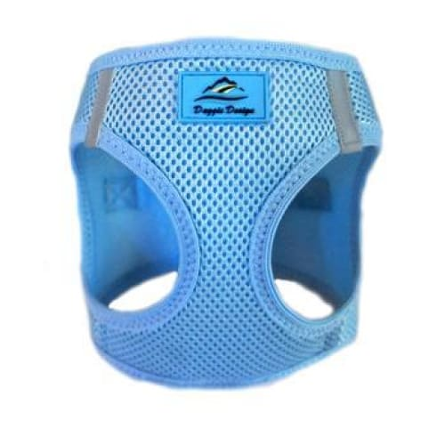 Solid Ultra Choke-Free Mesh Dog Harness Light Blue - Soft Dog Harnesses - 2