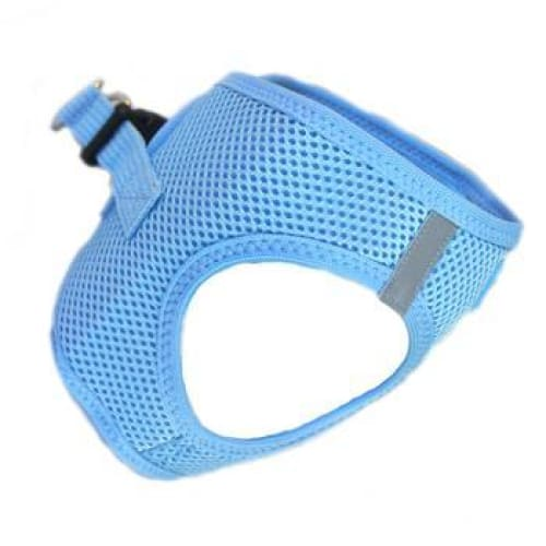 Solid Ultra Choke-Free Mesh Dog Harness Light Blue - Soft Dog Harnesses - 3