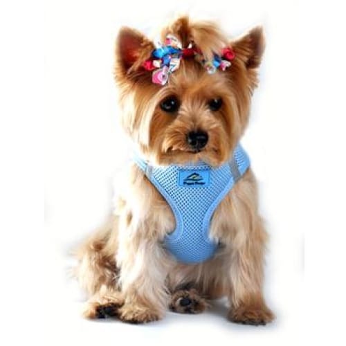 Solid Ultra Choke-Free Mesh Dog Harness Light Blue - Soft Dog Harnesses - 1