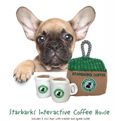 Starbarks Coffee House Interactive Toy for Dogs - Plush Dog Toys - 1