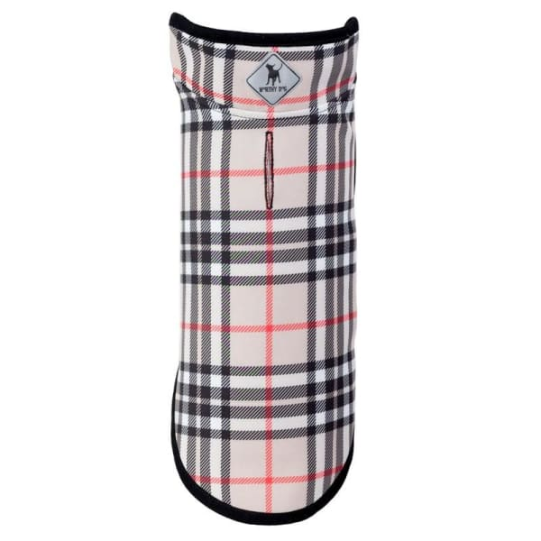 Tan Plaid Softshell Jacket for Dogs - Dog Jackets & Coats - 1