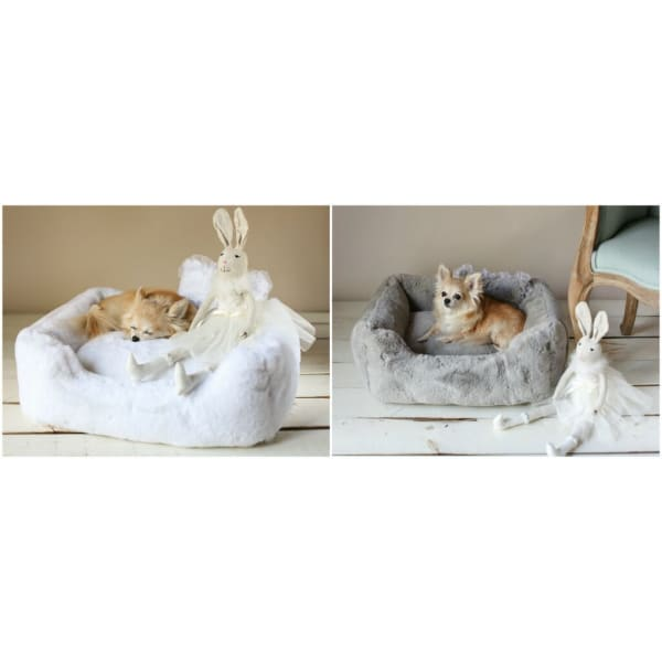 The Divine Dog Bed by Hello Doggie Grey - Luxury Dog Beds - 5