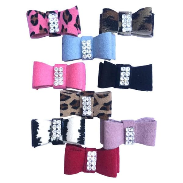 Ultrasuede Hair Bows for Dogs - Dog Hair Bows - 1