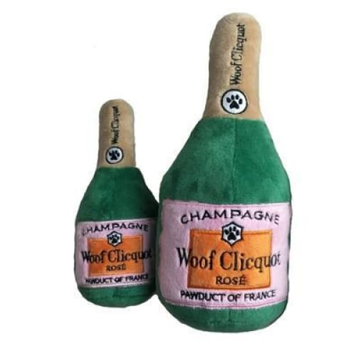 Woof Clicquot Rose Champagne Bottle Toy for Dogs - 2