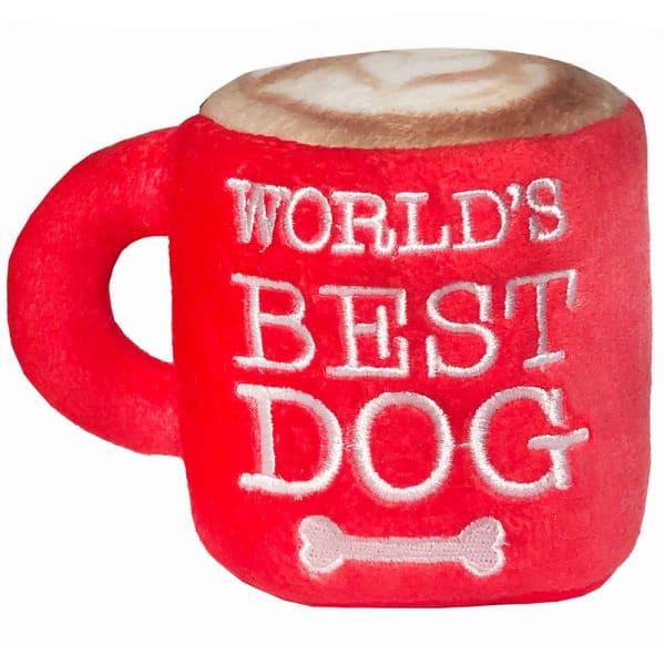 World's Best Dog Mug Power Plush Toy for Dogs - Plush Dog Toys - 1