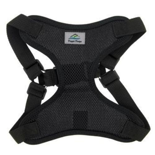Wrap and Snap Choke Free Dog Harness Black - Soft Dog Harnesses - 2