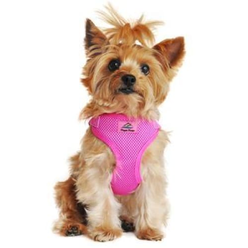 Wrap and Snap Choke Free Dog Harness Raspberry Pink - Soft Dog Harnesses - 1