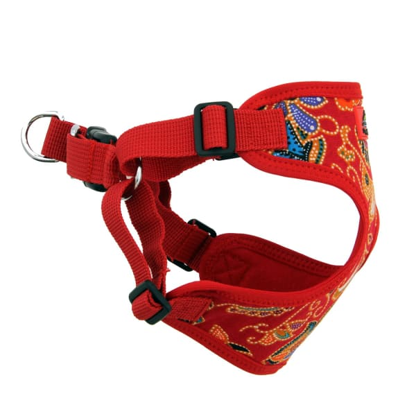 Wrap and Snap Choke Free Dog Harness Tahiti Red - Soft Dog Harnesses - 4