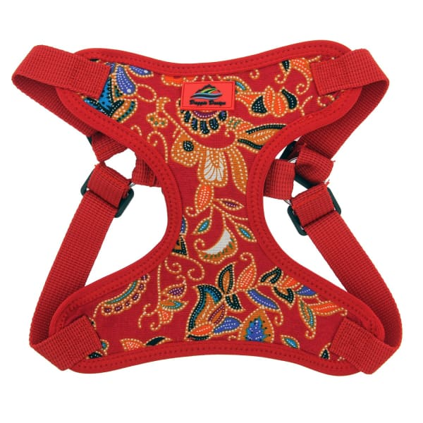 Wrap and Snap Choke Free Dog Harness Tahiti Red - Soft Dog Harnesses - 2