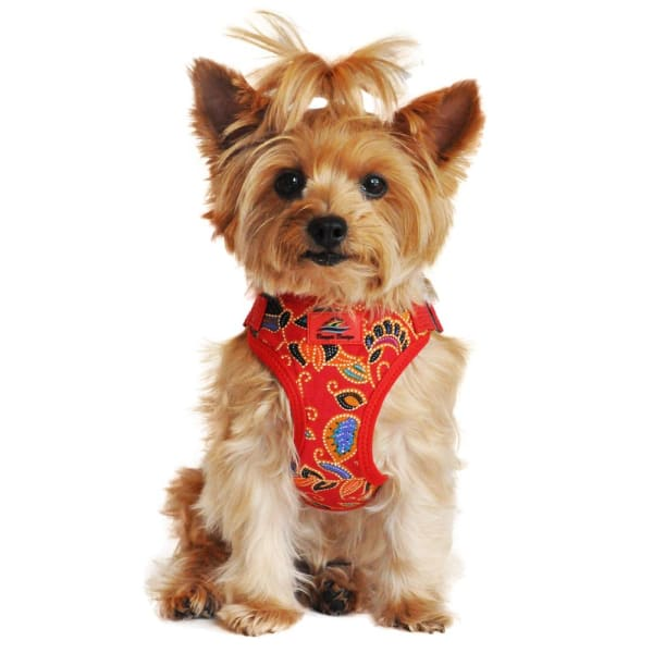 Wrap and Snap Choke Free Dog Harness Tahiti Red - Soft Dog Harnesses - 1